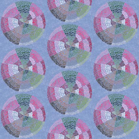 Dot circles on lavender gray