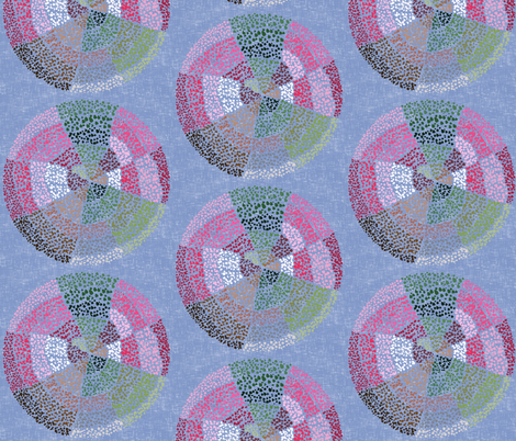 Dot circles on lavender gray fabric by su_g on Spoonflower - custom fabric