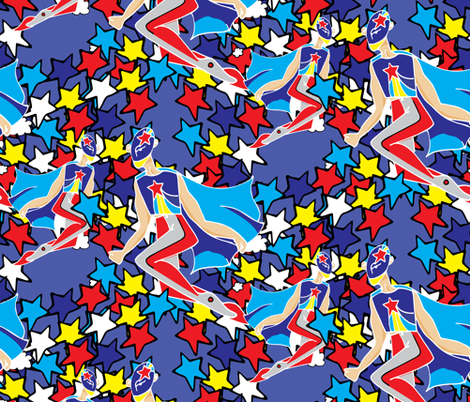 My Hero fabric by joelkirei on Spoonflower - custom fabric