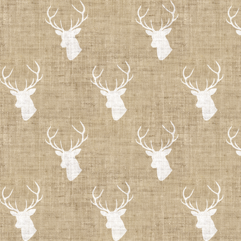 Tan Deer Linen Texture fabric by mrshervi on Spoonflower - custom fabric