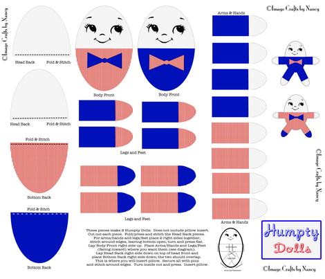 Humpty Dolls fabric by tulsa_gal on Spoonflower - custom fabric