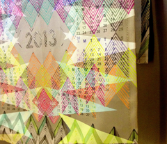 2013 Geometry Tea Towel Calendar
