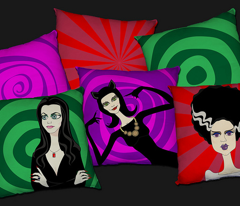 Dark Divas - cushion panels