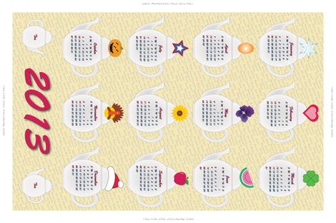 A Time for Tea Towel fabric by jjtrends on Spoonflower - custom fabric
