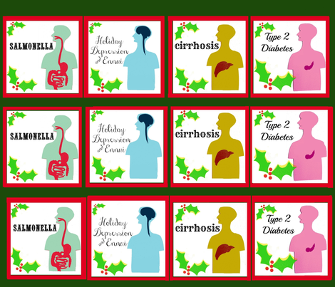 Eggnog Buzzkill fabric by boris_thumbkin on Spoonflower - custom fabric