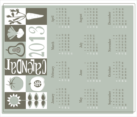 Calendar 2013 fabric by marimia on Spoonflower - custom fabric