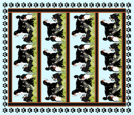 Bernese Mountain Dog Cheater Crib Size Quilt fabric by dogdaze_ on Spoonflower - custom fabric
