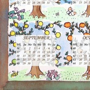 Apple tree 2013 calendar