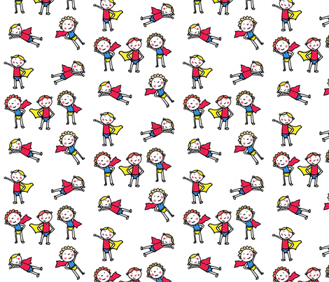 Be my hero fabric by sarahmadethis on Spoonflower - custom fabric