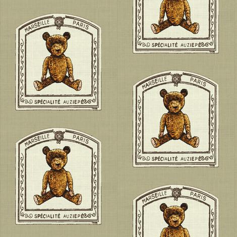 Framed and striped teddy bear