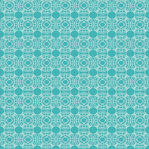 Turquoise Moroccan Print