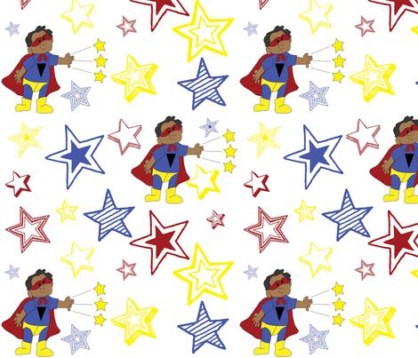 Be_My_Hero-ed fabric by pink_koala_design on Spoonflower - custom fabric