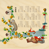 Paper Sparrow 2013 Woodland Calendar