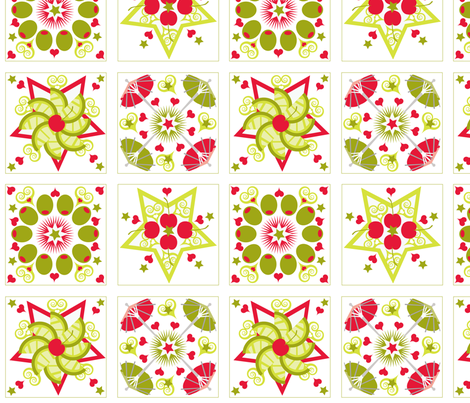 Holiday Cocktail Napkins with Olives fabric by firebelle on Spoonflower - custom fabric