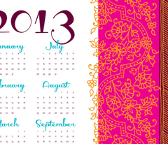 Bollywwod Mehndi calendar [contest version]