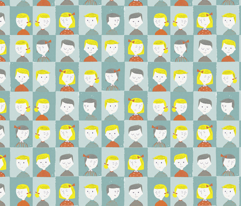 class portraits fabric by mummysam on Spoonflower - custom fabric
