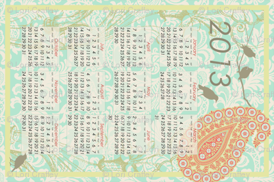 2013 tea towel calendar