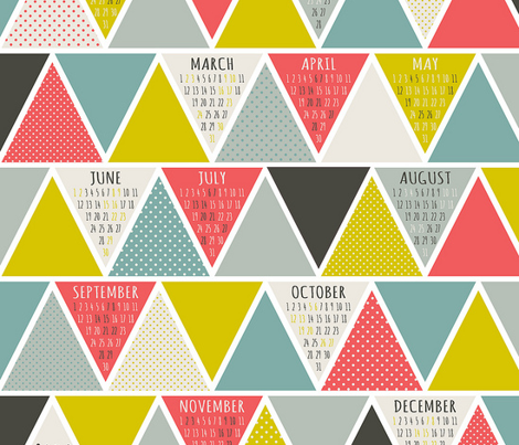 2013 Triangulum Calendar Tea Towel