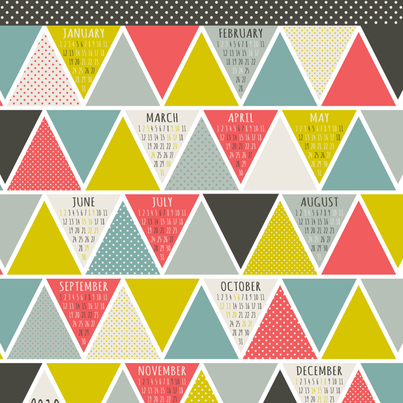 2013 Triangulum Calendar Tea Towel fabric by heatherdutton on Spoonflower - custom fabric