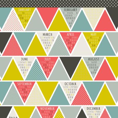 2013 Triangulum Calendar Tea Towel fabric by heatherdutton on Spoonflower - custom fabric