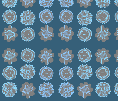 Midnight flower fabric by heaven-lee on Spoonflower - custom fabric