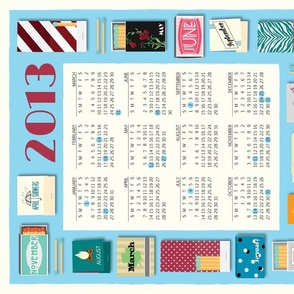 Matchbox Tea Towel 2013
