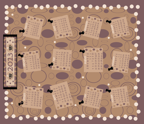 Coffee Shop Tea Towel Calendar fabric by arttreedesigns on Spoonflower - custom fabric