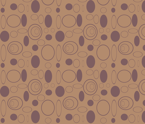 Coffee Bean Rings, Dots & Swirls fabric by arttreedesigns on Spoonflower - custom fabric