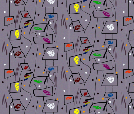 Done fabric by retroretro on Spoonflower - custom fabric