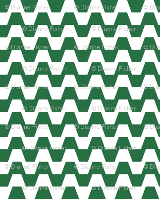 Trapezium in green and white