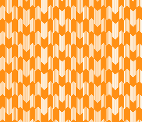 boho arrows -small -tangerine fabric by fable_design on Spoonflower - custom fabric