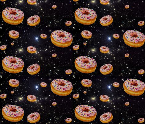 donut galaxy fabric by sewoeno on Spoonflower - custom fabric