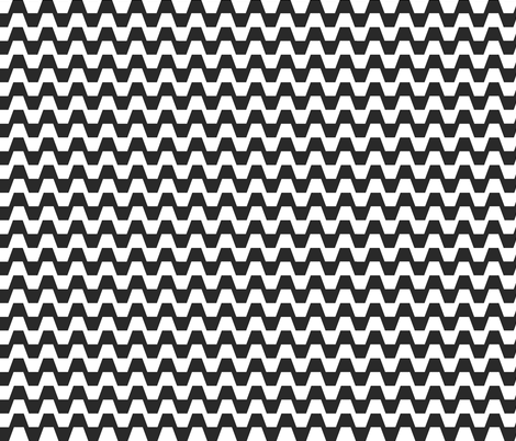 Trapezium in black and white fabric by little_fish on Spoonflower - custom fabric