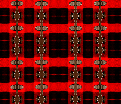 red plaid 1 fabric by nascustomwallcoverings on Spoonflower - custom fabric