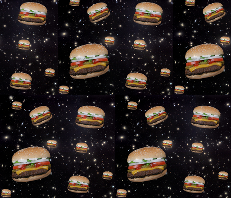 galaxy hamburgers fabric by sewoeno on Spoonflower - custom fabric