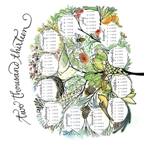 treeful year - 2013 tea towel calendar - ekstrm