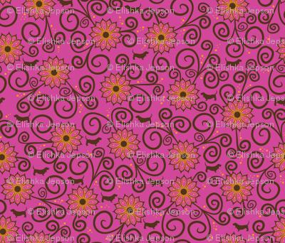 Samba Bassets Floral (Pink)