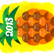 2013 Pineapple Tea Towel Calendar