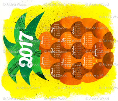 2017 Pineapple Tea Towel Calendar