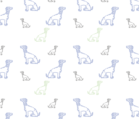 motifs Dogs 16in fabric by vannina on Spoonflower - custom fabric