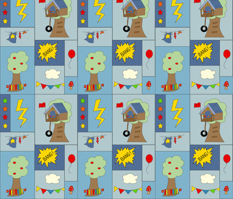 Everyday Hero - Be My Hero Contest fabric by anikabee on Spoonflower - custom fabric