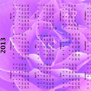 2013 Calendar - Rose Purple