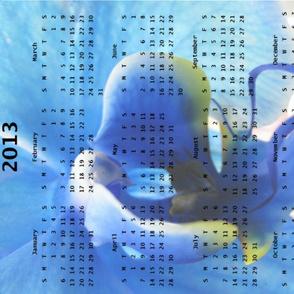 2013 Calendar - Flowers - Blue Orchid