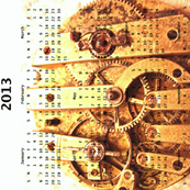 2013 Calendar - Paris, France - Temps est éphémère - Time is Fleeting