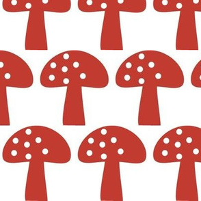 Woodland Mushroom Red