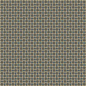 Floral Dot tan blue #2  © 2012 by Jane Walker