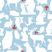 Woodland Animals Small Blue