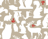 Woodland Animals Small Taupe