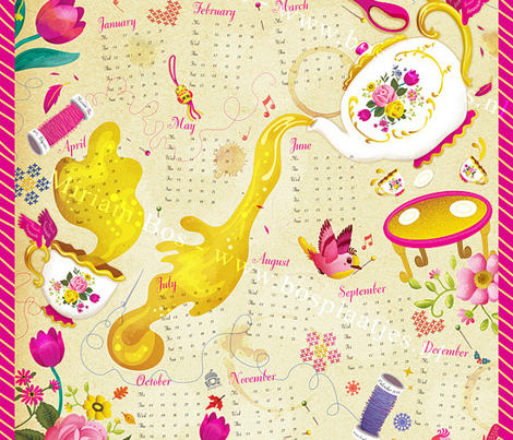 Tea Towel Calendar 2013