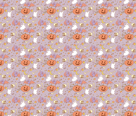 Halloween Pattern fabric by lydiapaige on Spoonflower - custom fabric